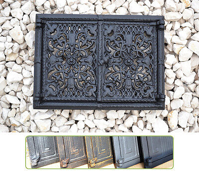 33,5 x 25 Cast iron fire door clay / bread oven / pizza stove smoke house DZ050