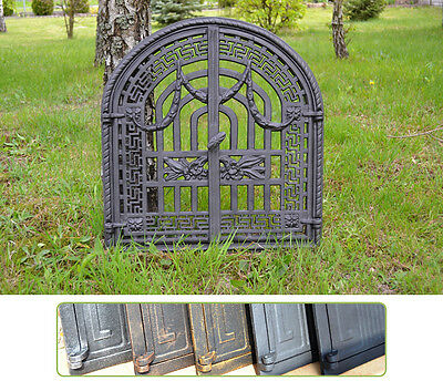 56 x 61cm Cast iron fire door clay / bread oven / pizza stove smoke house DZ051