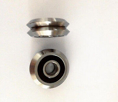 """Set of 8 RM2-2RS 3//8/"""" V-Groove Guide Bearing Sealed Guideway W Ball Bearings"""