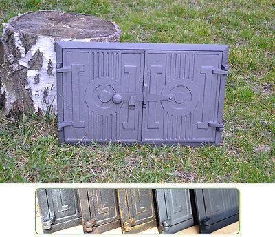 42 x 27cm Cast iron fire door clay / bread oven / pizza stove smoke house DZ059