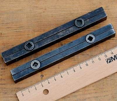 2x Schließzeug aus Druckerei Bleisatz Handsatz Schließzeuge letterpress quoins