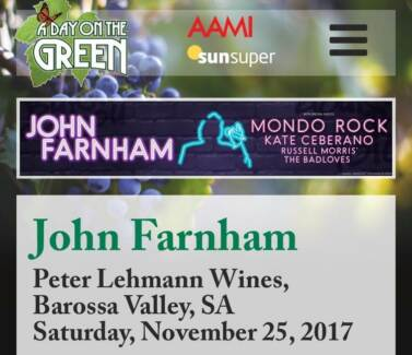Tickets - Day on the Green - Barossa Valley