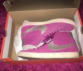 Pink Nike high top blazers