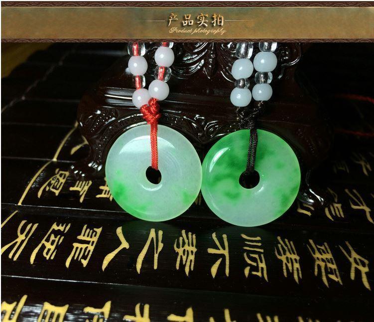 Купить Natural Chinese beautiful jade hand-carved Lucky Jade pendant bring peace 1 inch
