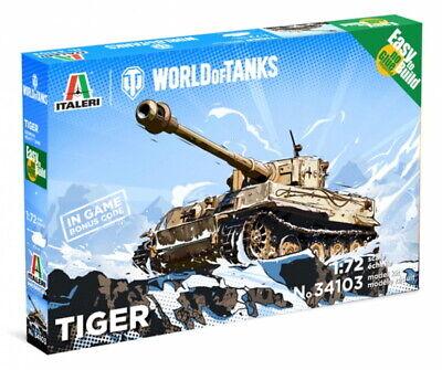 Italeri 34103 Panzer Battle Tank Pz.Kpfw.VI Tiger WoT Fast ass Kit Bausatz 1:72