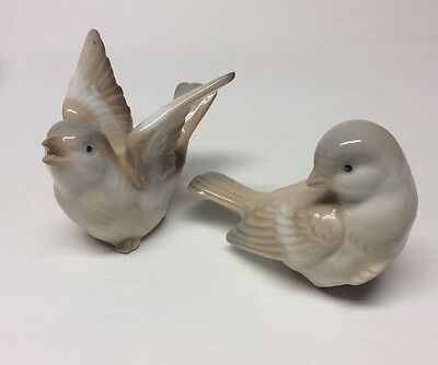 Vintage OMC Otagiri Bird Figurines Japan Porcelain