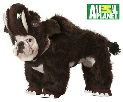 Wooly Mammoth Animal Planet Cute Fancy Dress Up Halloween Pet Dog Cat Costume