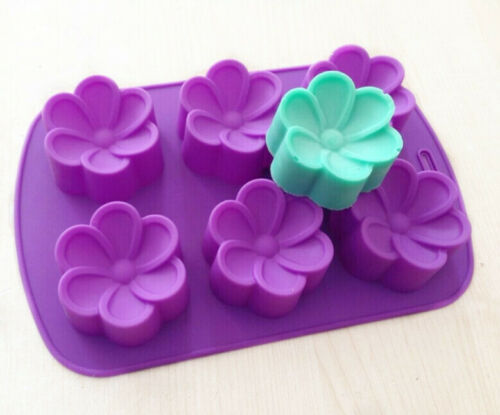 Round Plumeria Flower Silicone Soap Mold Chocolate Muffin Cupcake Making MoldPan
