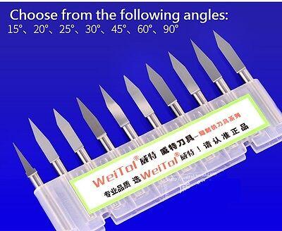 Cnc Pcb Engraving Endmill Mill-bit Knife 10pcspack 18 Inch Dia. 0.1mm 30degree