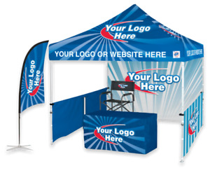 Custom Printed Pop Up Tent Canopies and Promotional Flags