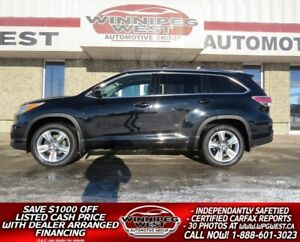 2016 Toyota Highlander LIMITED 4X4, 7 PASS, ALL OPTIONS, LOCAL,