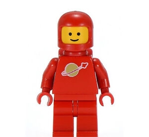 Vintage LEGO Classic Space Minifigure Astronaut Red