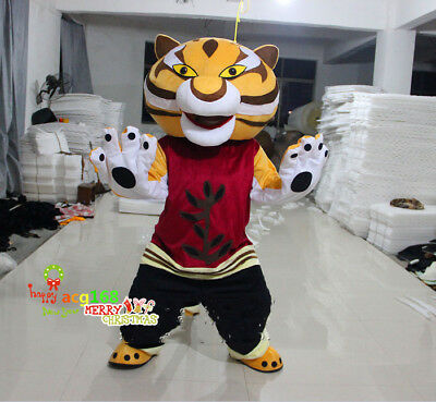 Tigress Mascot Costume Animal Cosplay Suit Panda Unisex Dress Party Outfit 2018 - Panda Mascot Suit