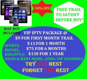 VIP IPTV Services for mobile phones/tablets/iPads