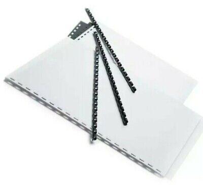 Office Depot Brand 14 Binding Combs 20-sheet Capacity Black Pack Of 100