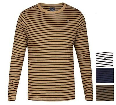 Hurley Men's Smith Crew Long Sleeve Knit Tee Shirt Multi Size / Color $38 NWT
