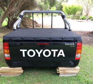 Black Toyota Hilux tub with Torino cover and sports bar Bittern Mornington Peninsula Preview