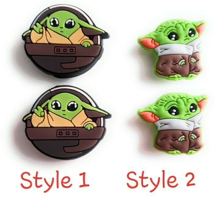 5 Styles Baby Yoda Star Wars Shoe Charms for Crocs Clog Shoes Bracelet Gift