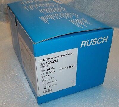 10 Rusch 34 Fr. Soft Pvc Nasopharyngeal Airway Sterile 2017-11 Ref 123334 - New
