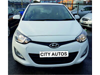 HYUNDAI i20 2014 41,000 MILES 1.2 PETROL 5 DOOR HATCHBACK MANUAL WHITE