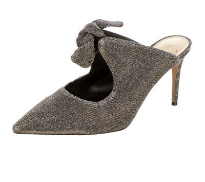 Alexandre Birman Metallic Bow Heels Size 39.5