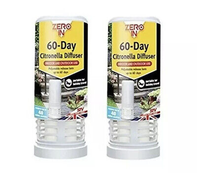 Brand New 2 x Zero In 60-Day Insect & Best Fly Killer Insect Repellent
