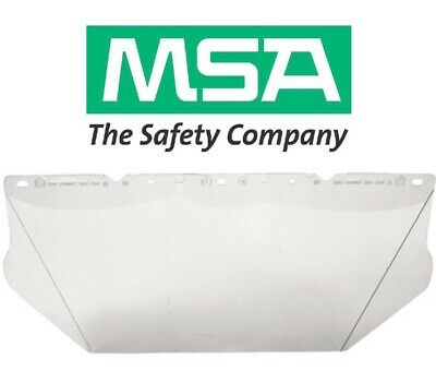 Msa V-gard Contoured Clear Safety Visor Face Shield For Hard Hats 10115840