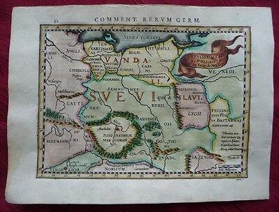 DEUTSCHLAND GERMANIA POLEN EUROPA KUPFERSTICH KARTE BERTIUS JANSSONIUS 1616