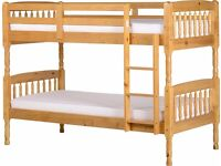 Albany 3ft Pine Wooden Bunk Bed - Brand New In Box - RRP £209