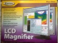 Kantek Lightweight, LCD Monitor Magnifier Filter, Fits 19 LCD Monitor