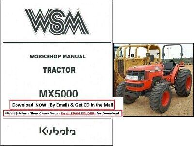 Kubota Mx5000 Tractor Workshop Service Manual Mx 5000