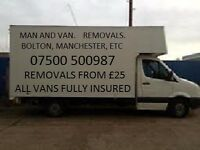 LOW COST HOME REMOVAL SERVICES AND MAN AND VAN SERVICE, HOUSES /FLATS/OFFICES, SHORT NOTICE WELCOME.