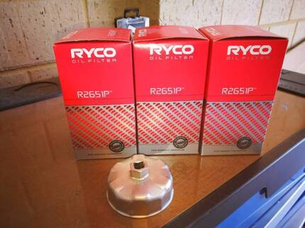 Ryco Oil Filter #R2651P X 3 Including Wrench