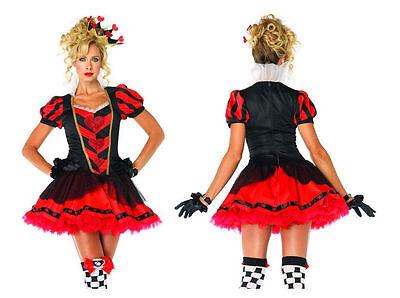 Dark Queen Hearts Kostüme (Leg Avenue 83836 Dark Heart Queen Fancy Dress Costume NEW USA Halloween Cosplay)