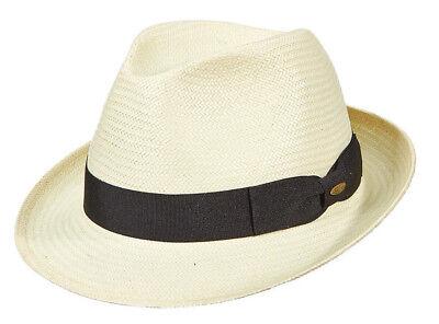 Golf Fedora (SCALA * MENS IVORY FEDORA HAT ** M L XL ** NEW PANAMA STYLE TOYO STRAW SUN GOLF)