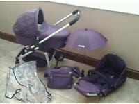 ICandy Cherry travel system pram in purple