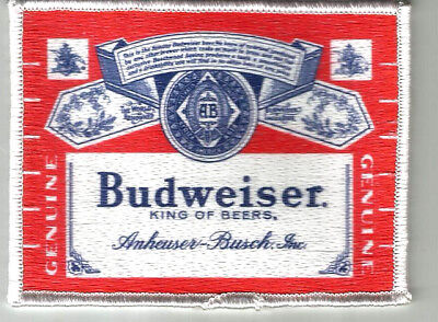 "Budweiser King Of Beers  Uniform or Shirt Patch  4"" X 3 1/8"""