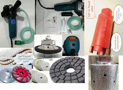 Wet Polisher 316 Demi Bullnose 1 38 Core Bit Grinding Drum Granite Marble