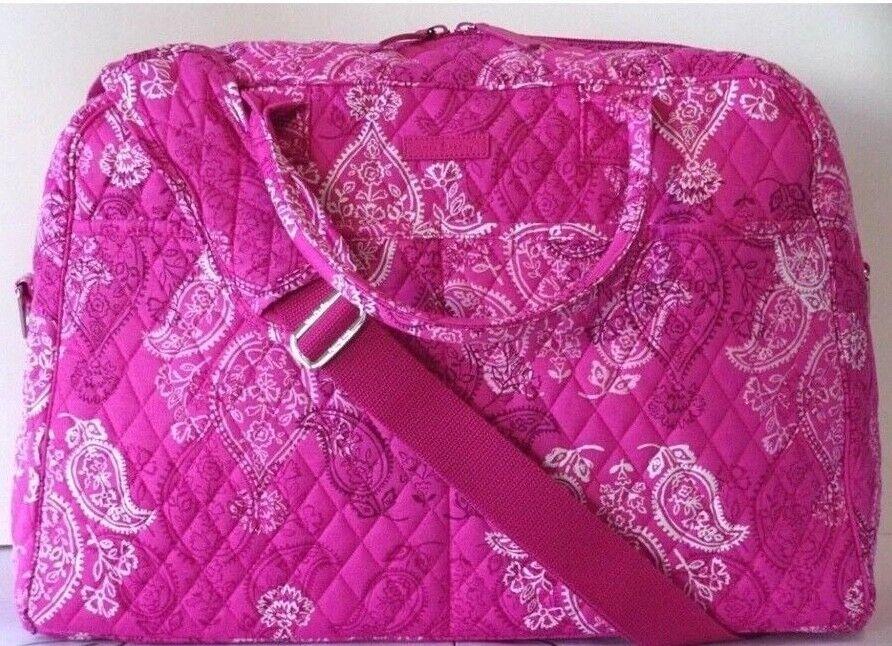Vera Bradley Weekender Carry-On Travel Bag, Stamped Paisley