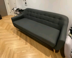 Free Delivery 3 Seater Grey Sofa