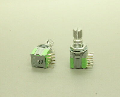 2 X Alpha 10mm Rotary Switch 2 Pole 3 Throw 2p3t 15mm Knurled Shaft