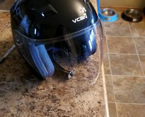 Used half face motorcycle helmet.