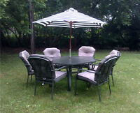 8 pc Patio Set with Padded Cushions
