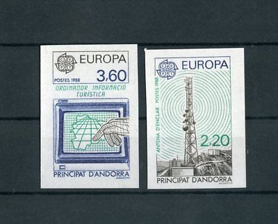 ANDORRA-FRANZÖSISCH Nr.390-391 ** CEPT 1988 - UNGEZÄHNT !!! (113994)