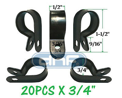20 Pack 3 4   Black Nylon Cable Clamp Uv Weather Resistant   Ships Free Today