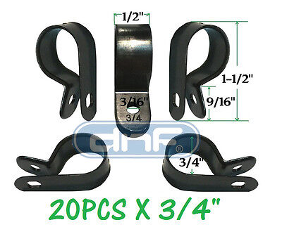 20 Pack 34 Black Nylon Cable Clamp Uv Weather Resistant - Ships Free Today