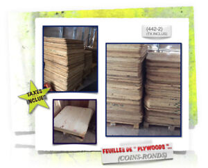 (#.06)-(451) PLYWOODS \(Coins-Ronds) > (2x)Dimensions - 3.99$ /c