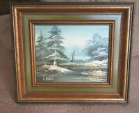 Framed Oil Painting - WINTER RIVER SCENE - City of Montréal Greater Montréal Preview