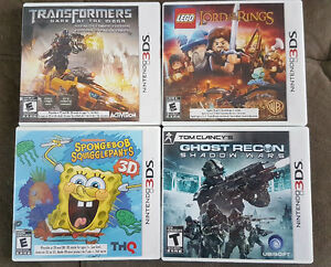 6 JEUX 3DS , NINTENDOGS 3DS, LEGO, TRANSFORMERS