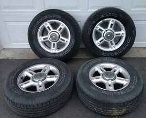Set of 4 OEM Alloy Rims w/Tires Ford Explorer 235/70R/16